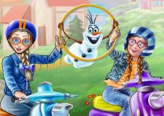 Anna e Elsa Andam de Moto