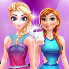 Jogo Anna e Elsa no Facebook