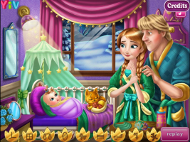 Anna e Kristoff Cuidam do Bebê - screenshot 3