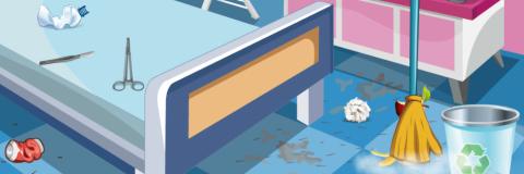 Anna Limpa os Quartos do Hospital