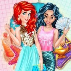 Jogo Ariel e Jasmine trocam suas Roupas