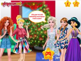 As Princesas Disney e o Papai Noel - screenshot 1
