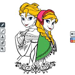 Jogo Colorir Desenhos da Frozen