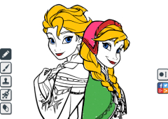 Colorir Desenhos da Frozen