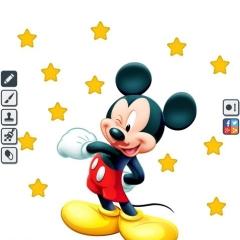 Jogo Colorir Mickey e Pato Donald