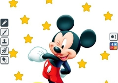 Colorir Mickey e Pato Donald
