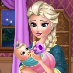 Jogo Cuide do Bebê de Elsa