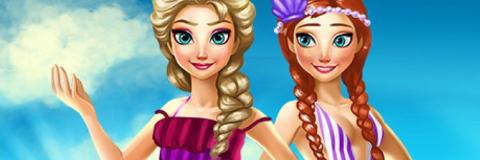 Elsa e Anna Férias de Verão