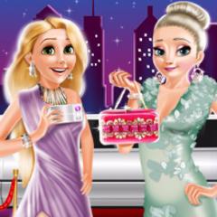 Jogo Elsa e Rapunzel no Tapete Vermelho