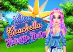Elsa faz Penteado no estilo Coachella