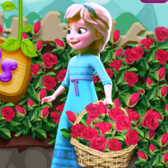 Jogo Elsa Planta Rosas no Jardim