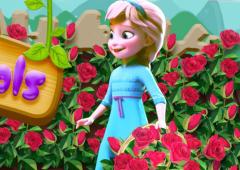 Elsa Planta Rosas no Jardim