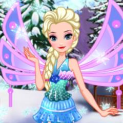 Jogo Elsa Se Veste de Fada Winx