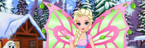 Elsa Se Veste de Fada Winx