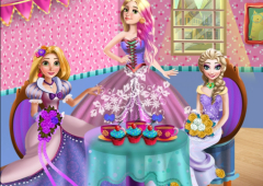Festa de Chá com Três Princesas
