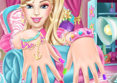 Manicure da Barbie