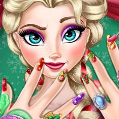 Jogo Manicure no Natal de Elsa