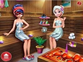 Na Sauna com a Ladybug e a Elsa - screenshot 2