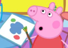 Pinte a tela com a Peppa Pig