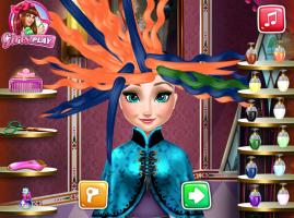 Salão de Cabeleireiro de Elsa - screenshot 1